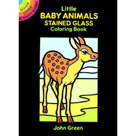 Little Baby Animals Stained Glass Coloring Book