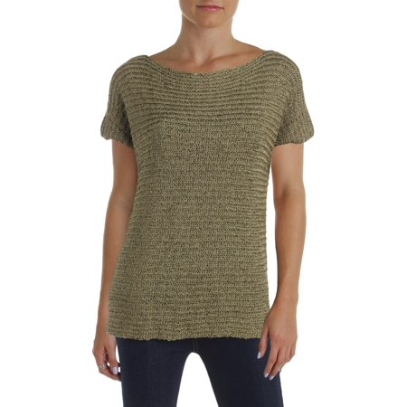 Lauren Ralph Lauren Womens Darbye Short Sleeve Shirt Pullover Sweater