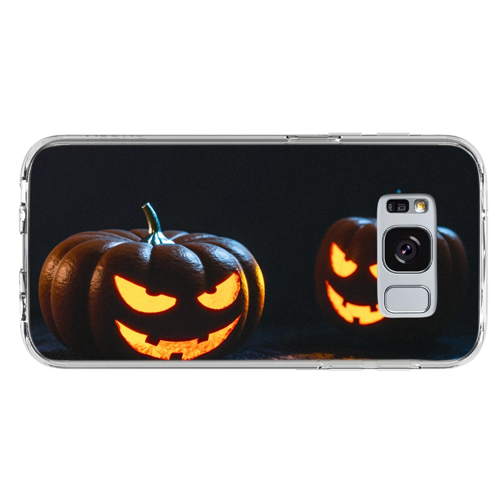 Halloween Carved Pumpkins Lit with Candles Samsung Galaxy S8 Plus Phone Case