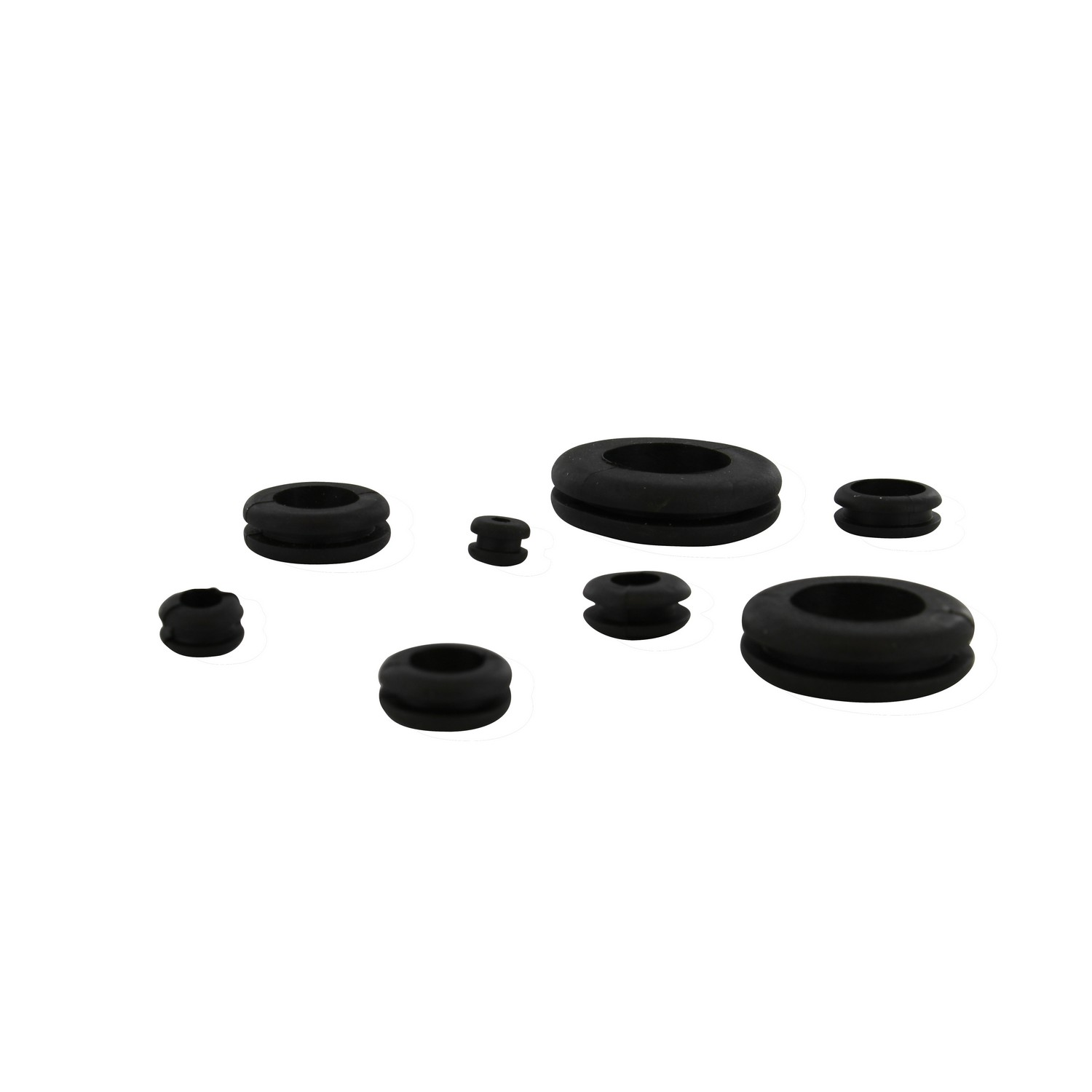 """3//8/"""" /½/"""" 5//16/"""" 5//8/"""" 7//16/"""" /¼/"""" ABN 180 Piece SAE Rubber Grommet Assortment 7//8/"""" and 1 Inch Sizes"""