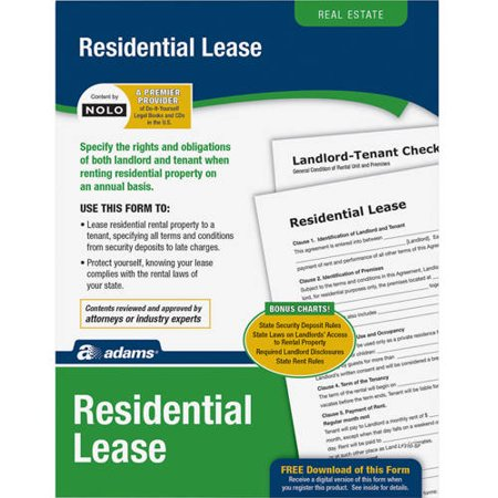 adams residential lease forms
