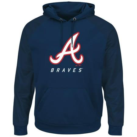"Atlanta Braves Majestic MLB ""Armor 2"" Mens Pullover Hooded Sweatshirt by"