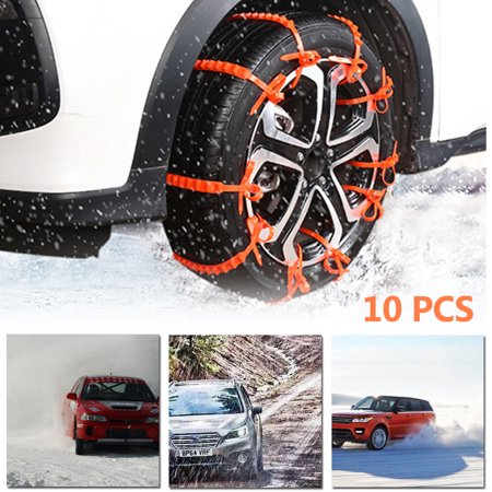 10 x Car SUV Tire Tyre Anti-Skid Chain Anti-Slip Tie Belt Snow Rain Day (The Best Snow Tires For A Suv)