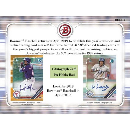 2019 Topps Bowman Baseball Hobby Box 24 Packs Of 10 Cards