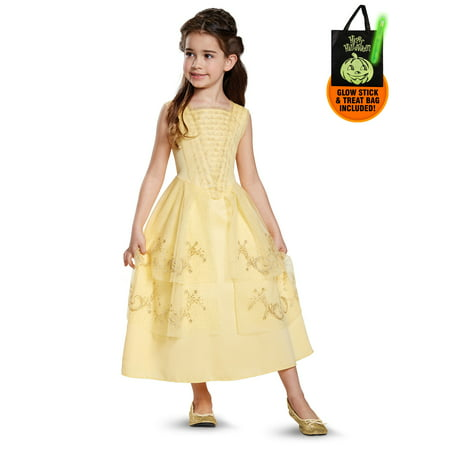 Disney Beauty and the Beast - Belle Ball Gown Classic Child Costume Treat Safety Kit