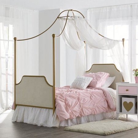 Childrens Bedroom Furniture Set - Little Seeds Monarch Hill Clementine Canopy Bed, Gold - Twin