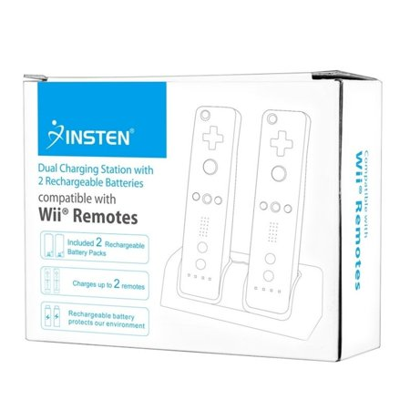 Insten Charge Charging Station Cradle Dock Charger with 2-pack Rechargeable Batteries For Nintendo Wii /Wii U Controller - image 7 de 10