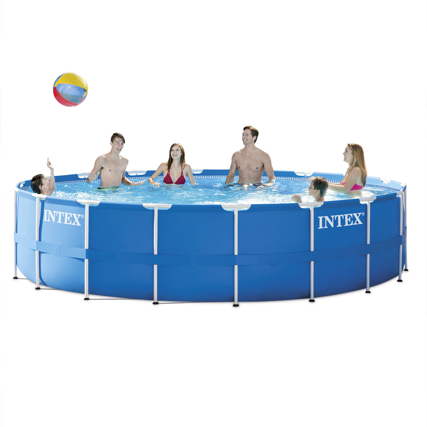 "Intex 18' x 48"" Metal Frame Above Ground Pool with Filter Pump"