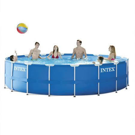 Intex 18 X 48  Metal Frame Above Ground Pool With Filter Pump