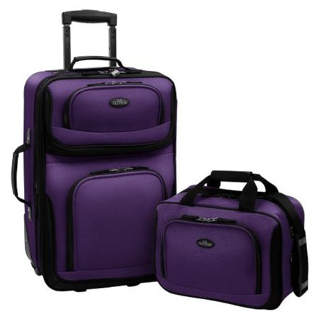 U.S. Traveler Rio Two Piece Expandable Carry-On Luggage Set