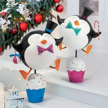 Penguin Novelty (Design Toscano Cupcake Chorus Line Holiday Penguin Statues: Set of Two )