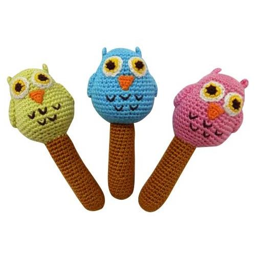 Yellow Label Kids Organic Bird Rattles by Cheengoo