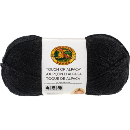 - Lion Brand Touch Of Alpaca Yarn-Black