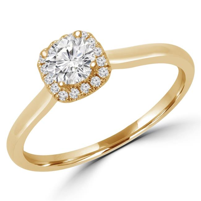 Majesty Diamonds MD170240-3.25 0.37 CTW Round Diamond Promise Halo Engagement Ring in 14K Yellow Gold - Size 3.25 - image 1 de 1