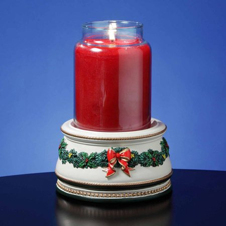 San Francisco Music Box Factory Holiday Treasures Musical Jar Candle Holder Music Box Multi-Colored