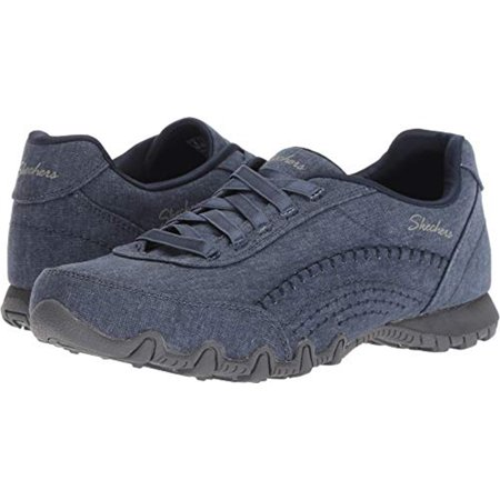 skechers relaxed fit bikers layered womens slip on sneakers,navy