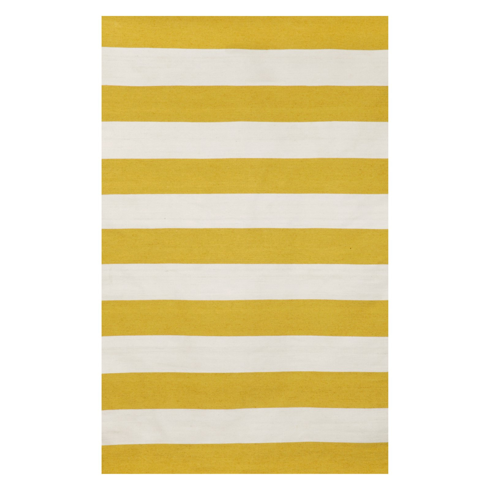 Liora Manne Sorrento 6302/09 Rugby Stripe Yellow Area Rug 7 Feet 6 Inches X 9 Feet 6 Inches