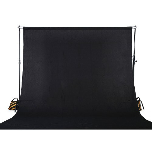 Square Perfect 4040 Professional Quality 10 x 13 Feet Muslin Photo Backdrop Photography Background for Photography and Video, Black