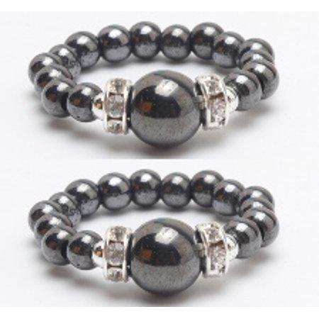 Black Hematite Magnetic Ring