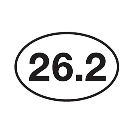 (26.2 Marathon Running Sticker Bumper Sticker Oval 5