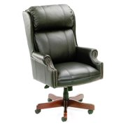 Hi-Back Black Caressoft Plus w Mahogany Base