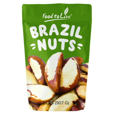 Shell Nut - Food to Live Brazil Nuts, Raw, No Shell, 2 lbs