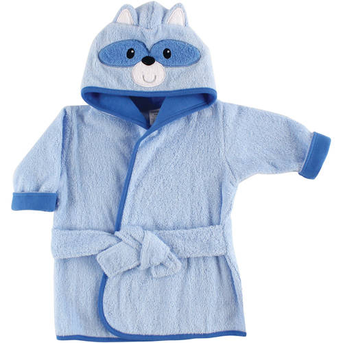 Baby Woven Terry Animal Bathrobe, Raccoon
