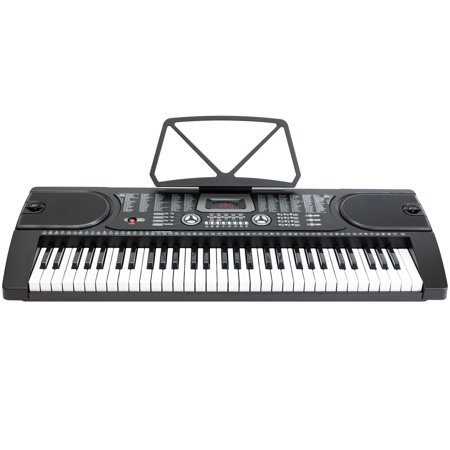 61-Key Electronic Piano Keyboard with 7-Position Adjustable Stand & Microphone - Black](black friday electric piano deals)
