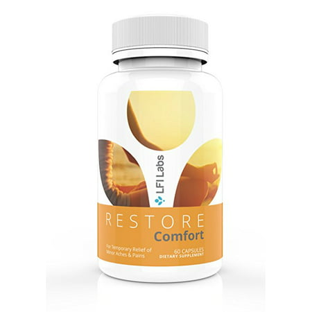 Natural Pain Relief Anti-Inflammatory - Organic Supplement with Turmeric,  MSM, Holy Basil, Resveratrol, & More - Relieve Aches & Pains with Herbs,