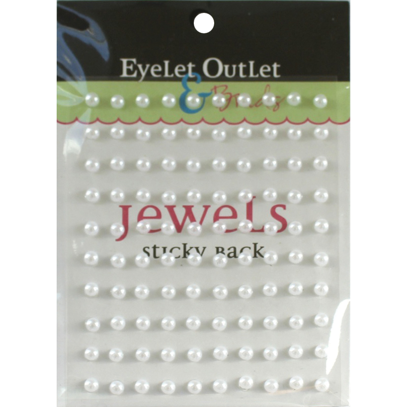 Bling Self-Adhesive Pearls 5mm 100/Pkg-White
