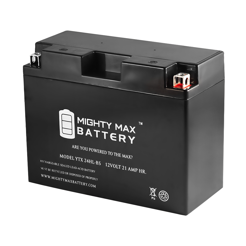 YTX24HL-BS 12V 21AH Battery for Bombardier Ski-Doo CK3 Types 1999-2003 by Mighty Max Battery