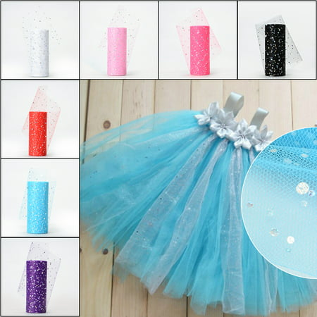 15CMx25Yard Glitter Sequin Tulle Roll for Wedding Birthday Party Dress Decoration - Tiffany Blue And Grey Wedding