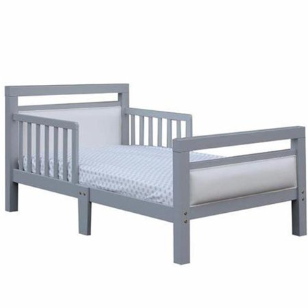 White Toddler Bed Walmart.The Orbelle Cambridge Gray Frame With White Padded Toddler Bed