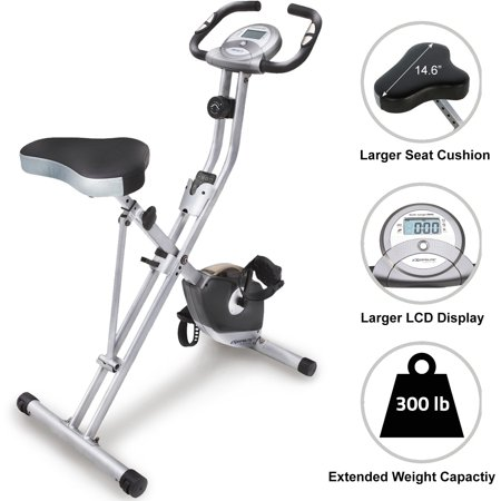 Exerpeutic Magnetic Upright Exercise Bike with Heart Pulse