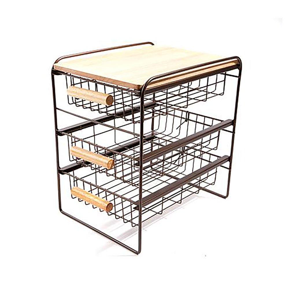 "Origami 14"" x 9.9"" Kitchen Countertop 3 Basket Drawer Wood ..."