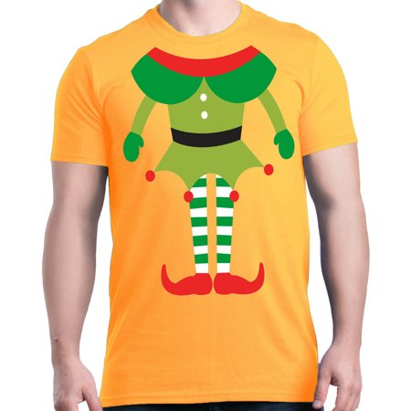 Shop4Ever Men's Elf Body Costume Funny Christmas Merry Xmas Graphic T-shirt
