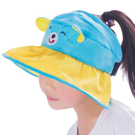 e78434cd Kids Outdoor Sun Cap-Vbiger Cute Kids Sunhat Adorable Bear Empty Top Hat  Foldable Outdoor