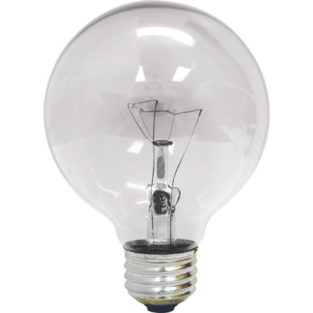GE 12983-4 25 Watt Crystal Clear G25 Decorative Globe Light Bulb (4-Pack)