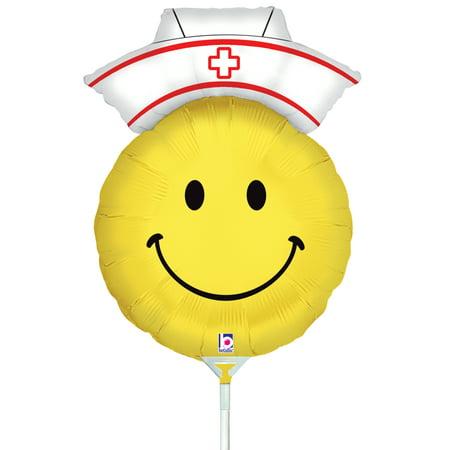 Air Filled Smiley Nurse Mylar Balloon (Air Filled Balloons)