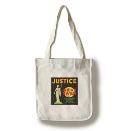 Vero Beach, Florida - Justice Brand Citrus - Vintage Crate Label (100% Cotton Tote Bag - Reusable)](Justice Bags)