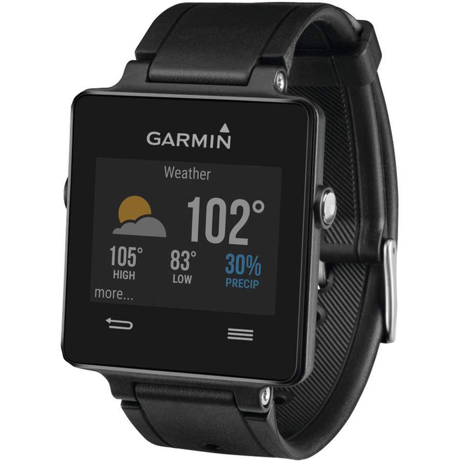 "Garmin Vivoactive Smartwatch GPS / Activity Tracker / Pedometer / Sleep Monitor with Phone Notifications, Black (fits wrists 5.35-9.25"")"