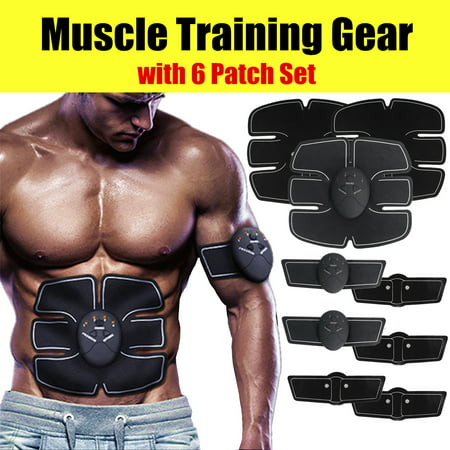 Grtxinshu Buttock/Abdominal EMS Muscle Training Gear, ABS Stimulator Muscle Trainer Smart Body Building Fitness Ab Core Toners Workout For Abdomen/Arm/Leg/Hip