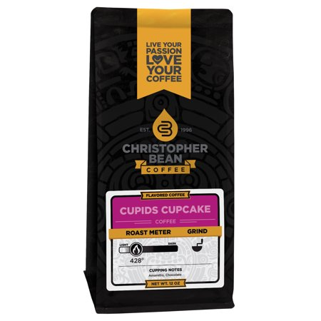 Coffee Cupcake - Cupids Cupcake Decaf Ground Flavored Coffee, 12 Ounce Bag