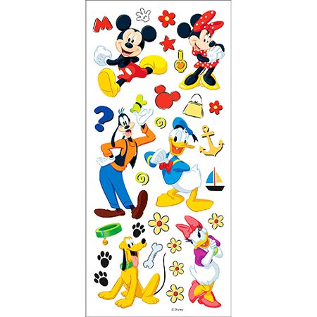 Disney Stickers/Borders Packaged - Mickey; Friends