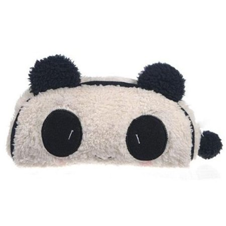 JOYFEEL 1Pcs Panda Soft Plush Pencil Case Pen Pocket Zipper Holder Bag Pouch Kids
