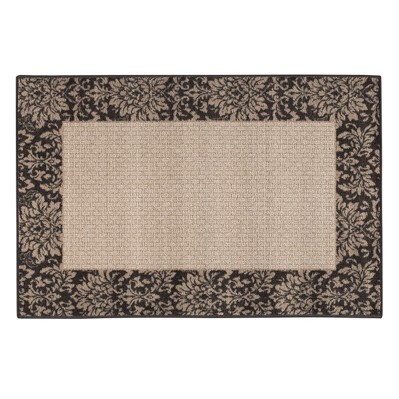 """BRUMLOW MILLS INC DAMASK WEAVE ACCENT RUG CHOCOLATE - 30"""" x 46"""""""