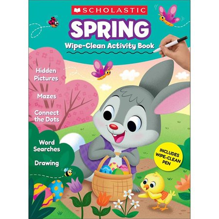 Scholastic Teaching Resources SC-833482BN Spring Wipe-Clean Activity Book, Pack of 2 - image 1 of 1