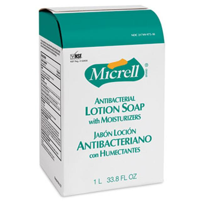 Gojo 215708CT MICRELL NXT Antibacterial Lotion Soap Refill  Light Scent  1000ml Bag  8/ctn