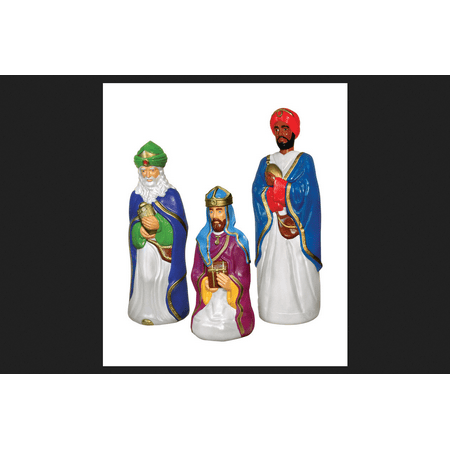 general foam blow mold three wisemen christmas decoration multicolored plastic 60 in