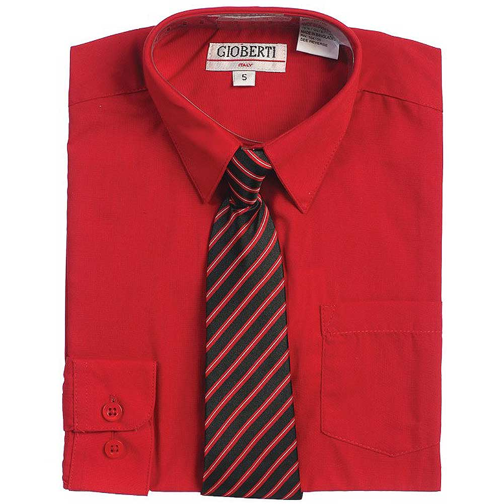 37ea921f4 George - George Boys Packaged Dress Shirt with Black Tie - Walmart.com